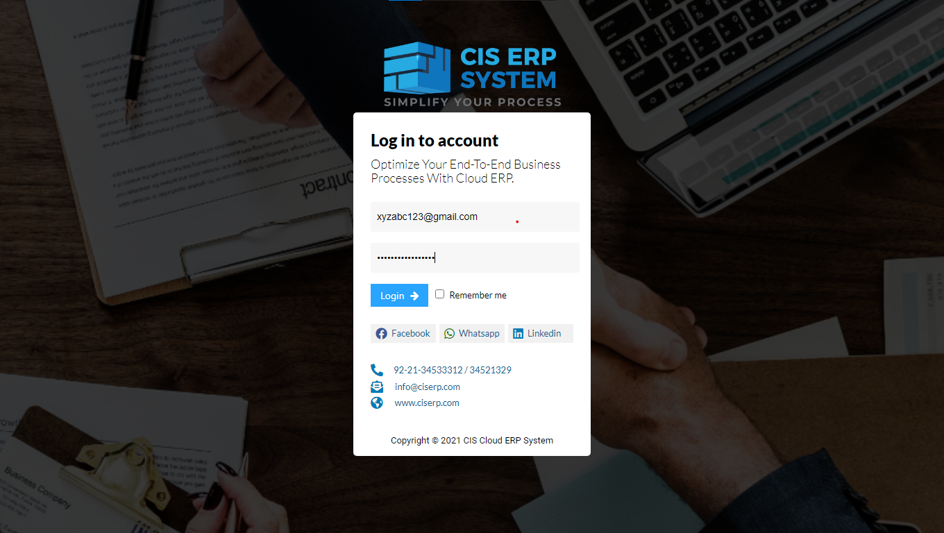 log in erp software safe with protection and encryption